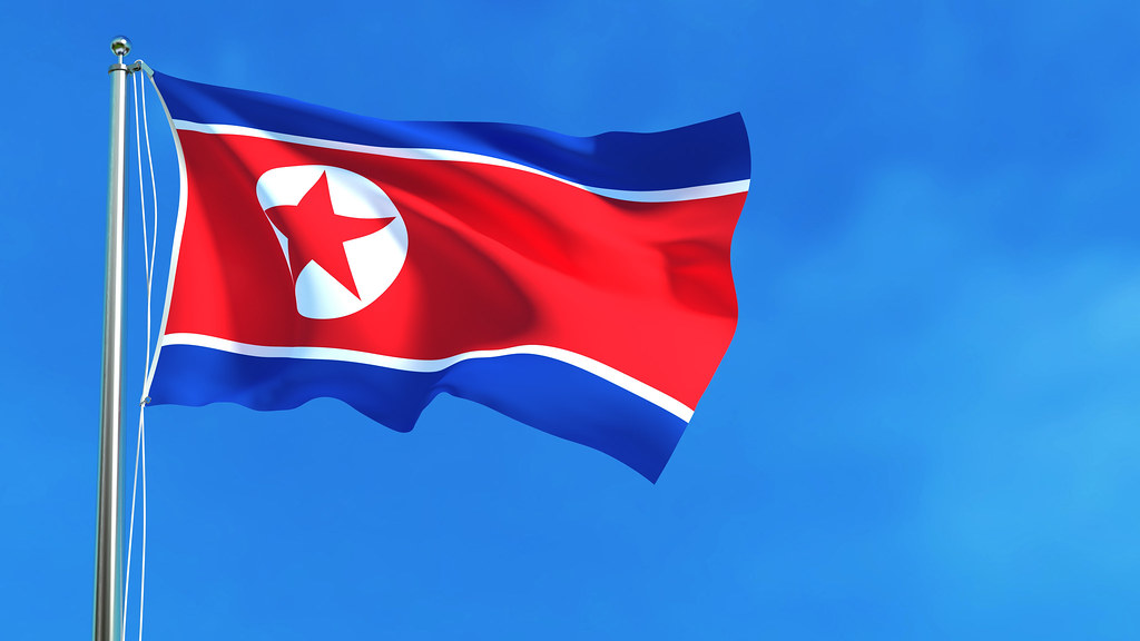 North Korean flag (Photo: Shutterstock 517418326)