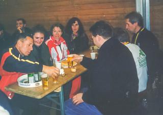 Marathon-Nachfeier mit Klaus, Sandra, Biggi, Ana, Karlheinz, Gisela, Andi