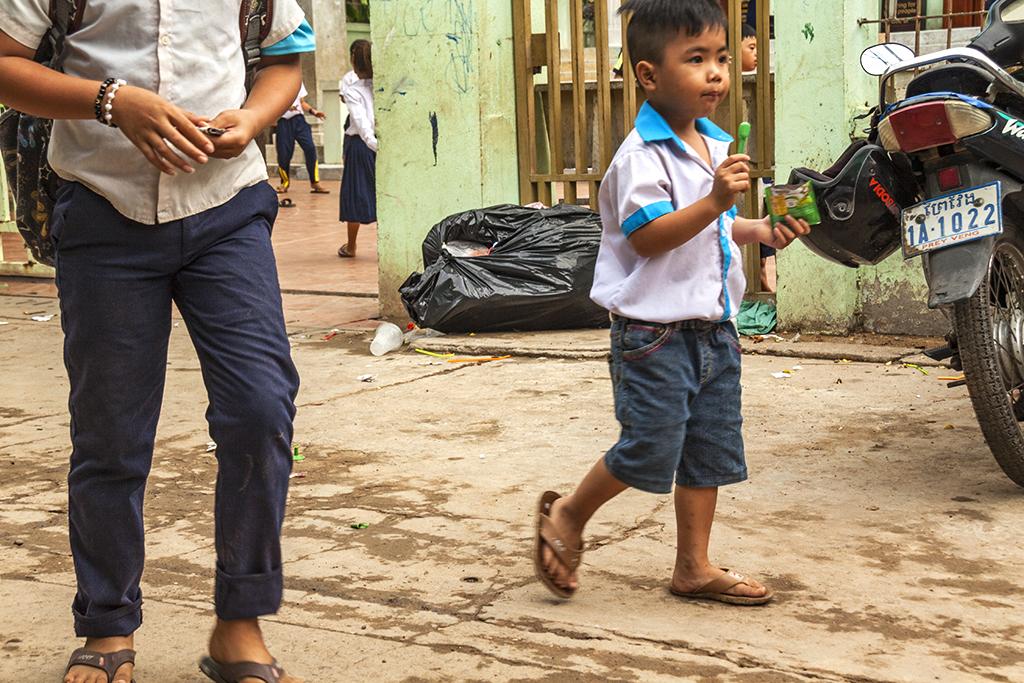 Vietnamese kids during recess--Akreiy Ksatr