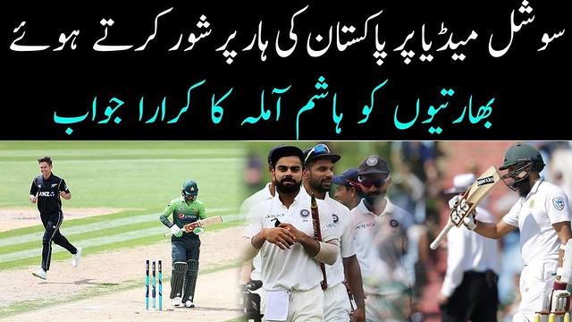 Hashim Amla brilliant reply to india fans on pakistan defeat Pakistan vs New Zealand 3rd odi social