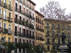 Lovely square in La Latina quarter, Madrid