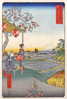 Vue du Mont Fuji d'Utagawa Hiroshige (musée d'art oriental, Venise)