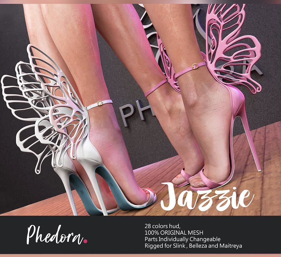 "Phedora. for Blush Event- ""Jazzie"" Butterfly heels"
