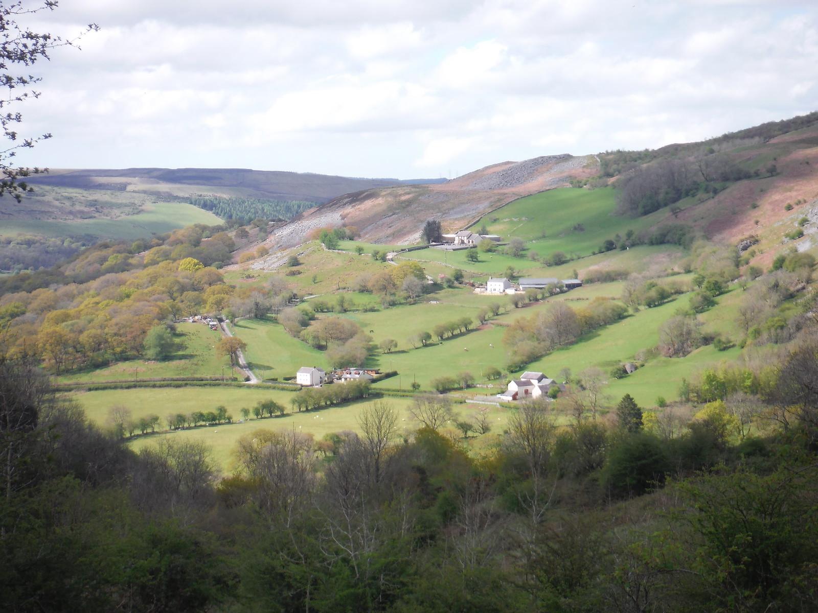 Cwm Tawe towards Glyntawe, from Allt Rhongyr SWC Walk 307 - Fforest Fawr Traverse (Craig y Nos to Llwyn-y-celyn)