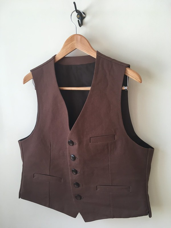 Belvedere Waistcoat in duck canvas and broadcloth