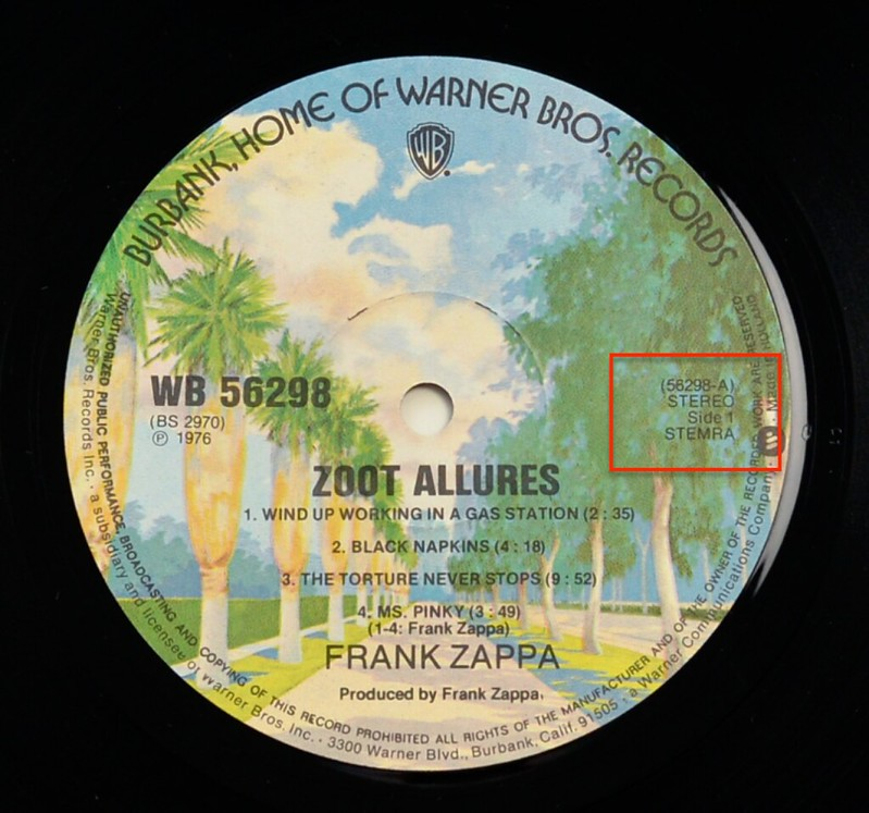 A0490 FRANK ZAPPA - Zoot Allures