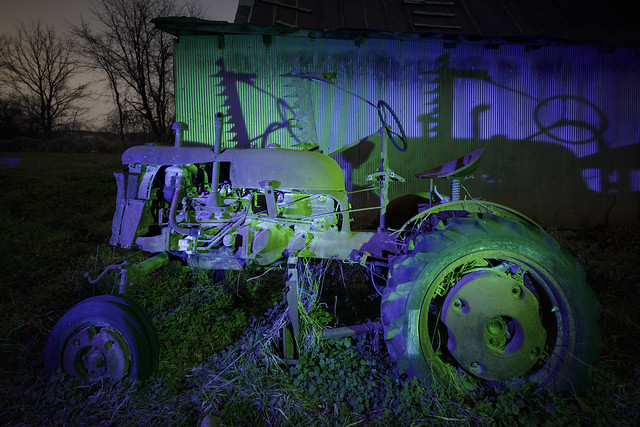 Blue-Green Tractor
