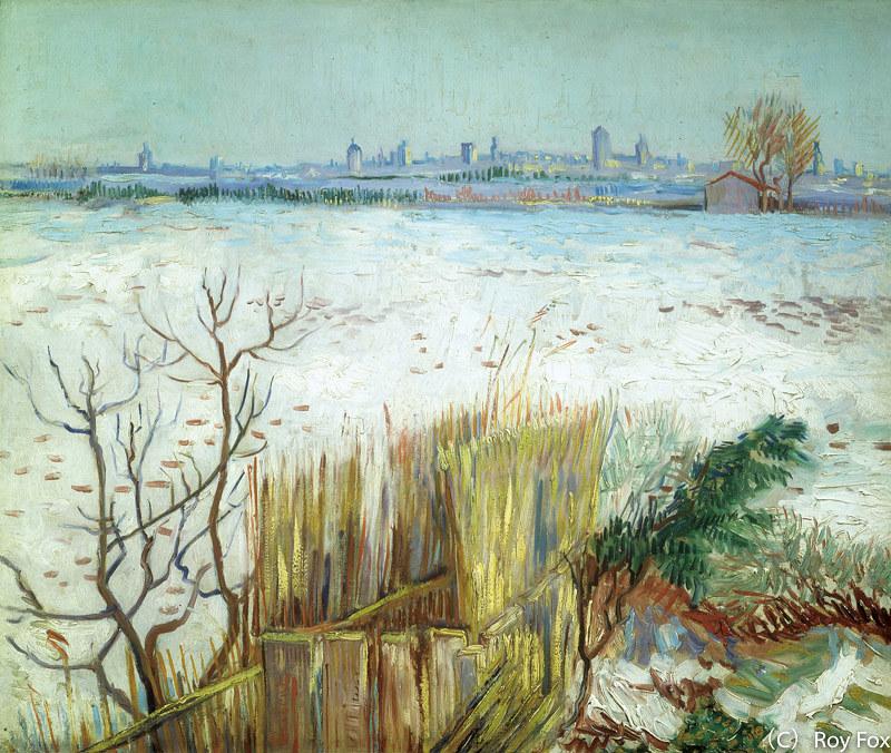 フィンセント・ファン・ゴッホ《雪景色》(1888年、個人蔵)