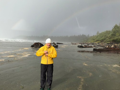 Tofino - Linda with a rainbow