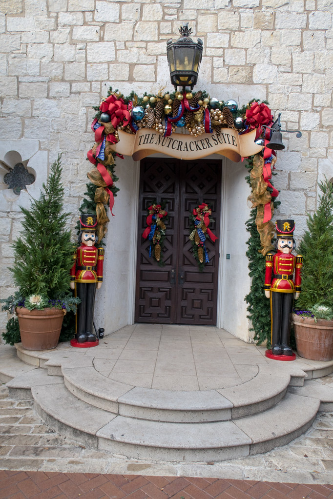 Entrance to the DeGolyer House Nutcracker Display