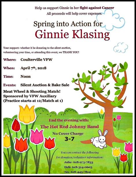 Ginnie Klasing Benefit 4-7-18