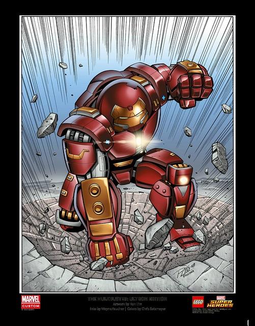 LEGO Marvel Super Heroes Hulkbuster Art Print (5005573)