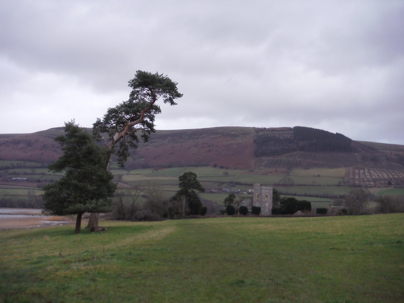 St. Gastyn's Church, Llangasty-Talyllyn and Mynydd Llangorse SWC Walk 308 - Bwlch Circular (via Mynydd Troed and Llangorse Lake)