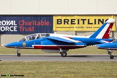 E130 1 F-TERP - E130 - Patrouille de France - French Air Force - Dassault-Dornier Alpha Jet E - RIAT 2010 Fairford - Steven Gray - IMG_9440