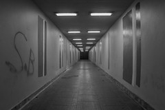 Subway at night: Gabalfa, Cardiff, Wales