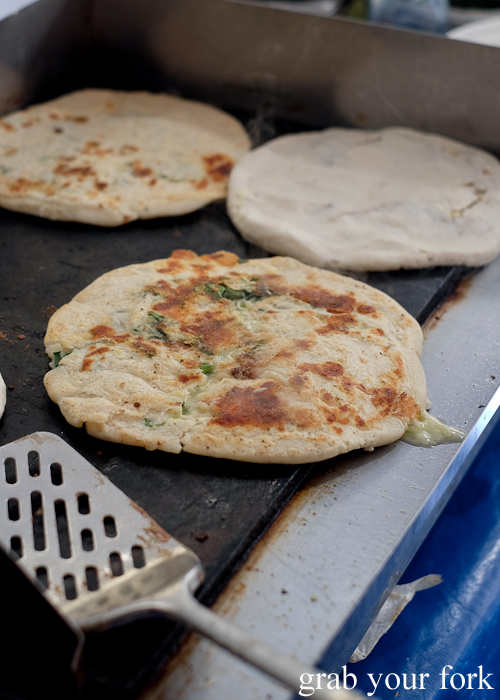 Ecuadorian pupusa by Mokambo Caffe at Southside Farmers Market in Canberra