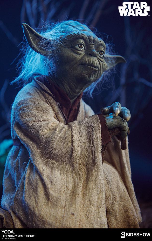 大師,請教導我有關絕地武士的一切吧~!Sideshow Collectibles 傳奇系列《星際大戰》尤達 Yoda Legendary Scale 1/2 比例全身雕像作品