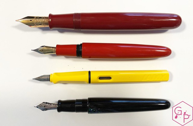Review @Wancher Red Urushi Ebonite Fountain Pen 4