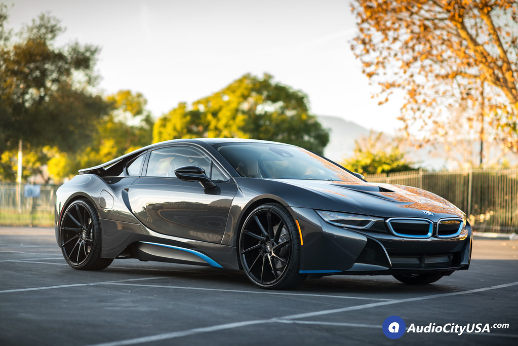 2016 Bmw I8 22 Savini Wheels Bm15 Gloss Black Directional Wheels