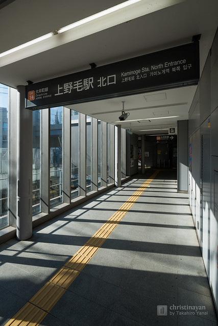Entrance passage of Kaminoge Station (上野毛駅)