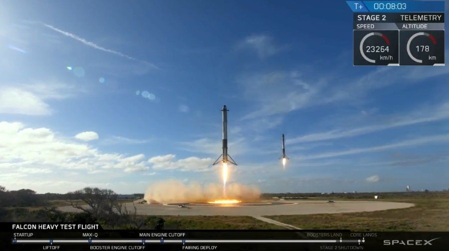 SpaceX confirme avoir perdu le noyau central du Falcon Heavy