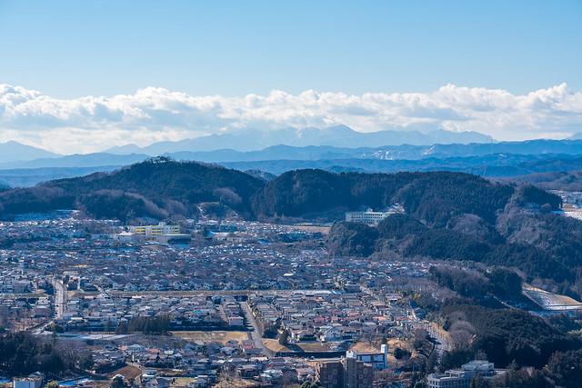 武蔵台団地と多峯主山@金刀比羅神社