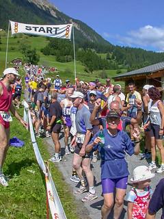 Giselas K42-Start in Bergün