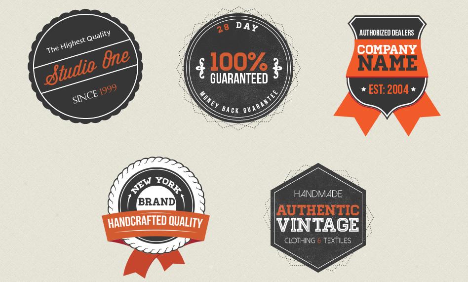 Vintage Badges – vintage labels PSD files
