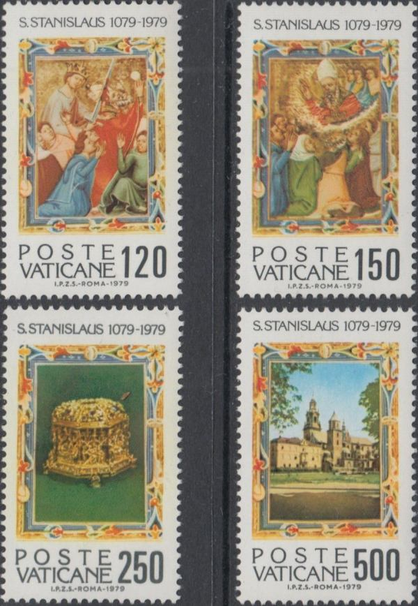 Známky Vatikán 1979 Svätý Stanislav, nerazítkovaná séria