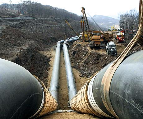 Прокладывание нефтепровода