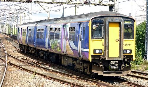 Class 150/2 'Northern Rail' No.150271. BREL York Sprinter DMU on Dennis Basford's railsroadsrunways.blogspot.co.uk'