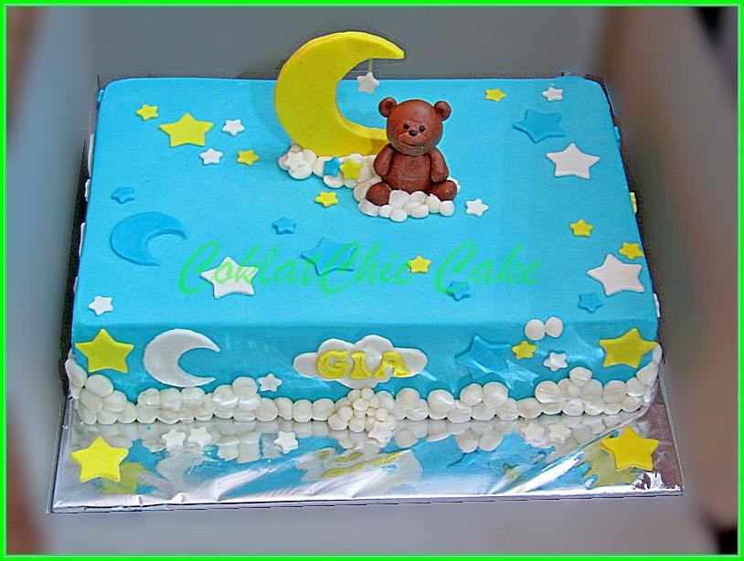 Cake Bear Moon GIA 27x18 cm