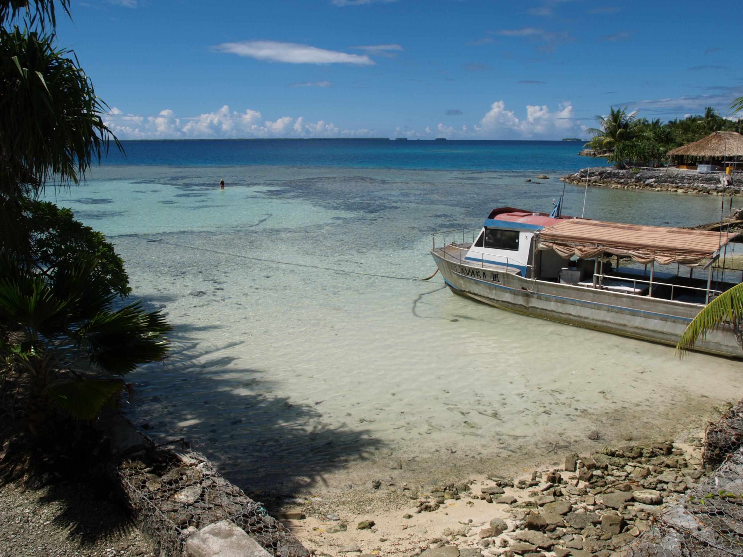 Nukunonu Lagoon, Tokelau. Photo taken on July 8, 2007.