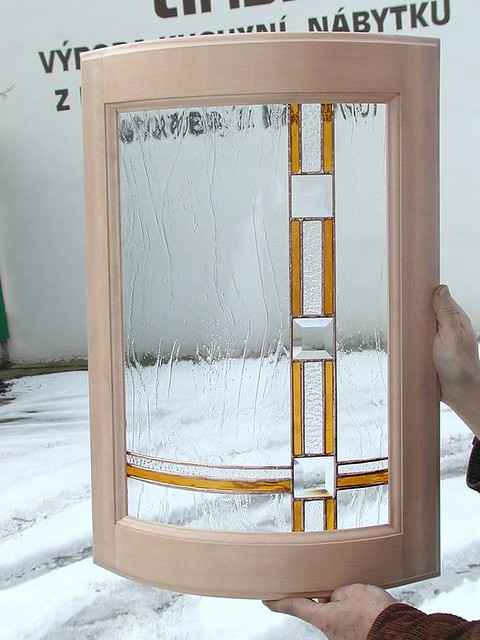 Vitráže moderní ohýbané sklo