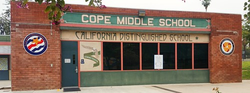 Cope Middle School - Redlands CA - two new school award panels