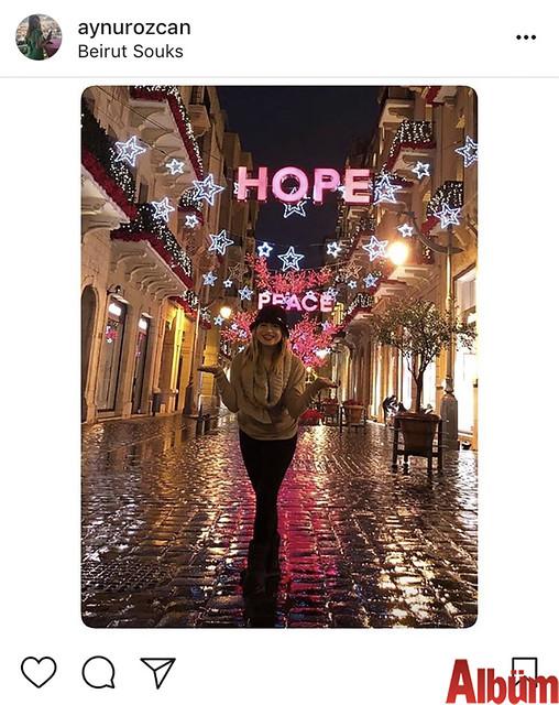 Eczacı Aynur Özcan, yeni yıla Lübnan Beyrut'ta girdi.