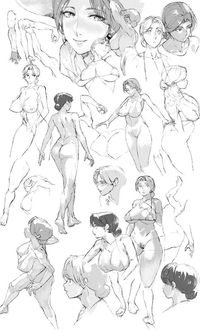 Sketch Anime Art Concept