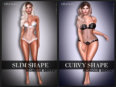 """Slim Shape"" & ""Curvy Shape"" Monique Bento"