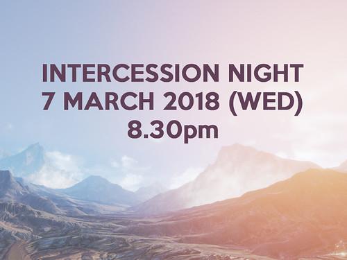intercession night 7 march