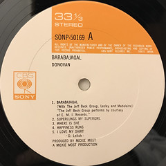 DONOVAN:BARABAJAGAL(LABEL SIDE-A)