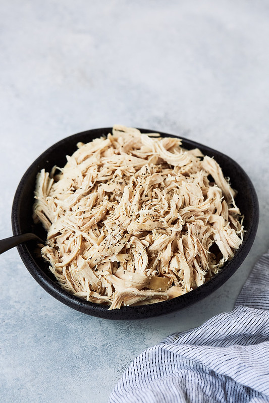 Instant Pot Shredded Chicken {with Recipe Ideas & Slow Cooker Variation}
