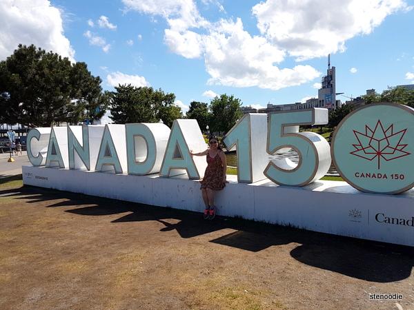 Canada 150 sign