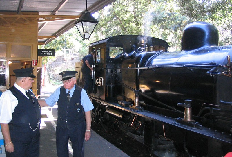 Belgrave Station, Puffing Billy, January 2008