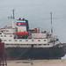 North Korean ship moored in a dock, South Pyongan Province, Nampo, North Korea