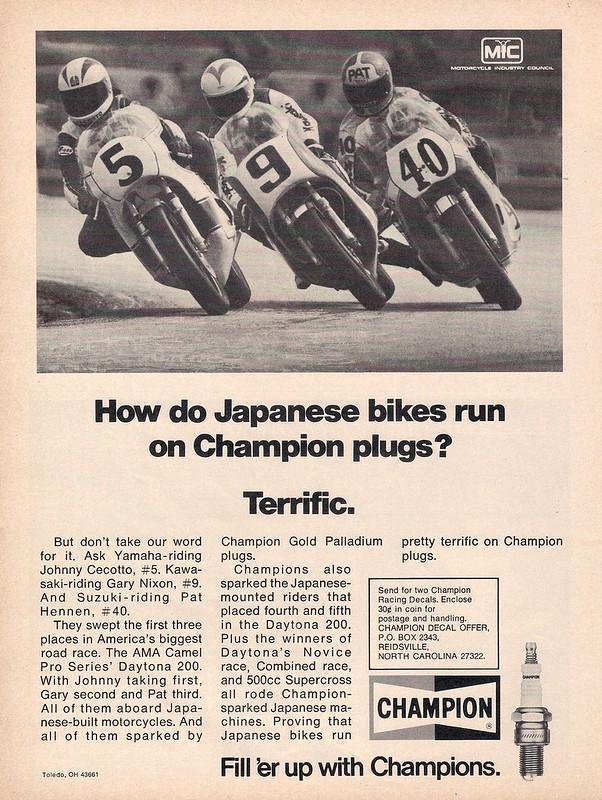 Champion spark plugs 1976