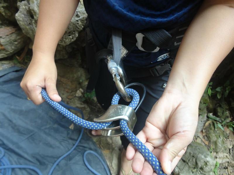 rock climbing belayer