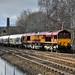 66144 6M90 Avonmouth-Clitheroe empty cement, Daisyfield Junction Blackburn 17.02.2018