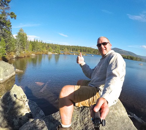 Thumbs up in Baxter State Park - Maine. Photographer Ted Nelson