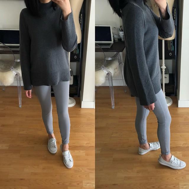 LOFT Mock Neck Swing Sweater, size XXS regular