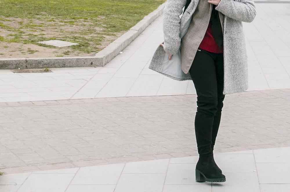 somethingfashion blogger firenze collaboration outfit casual turban diadem velvet red coat vintage italianbloggers_0685